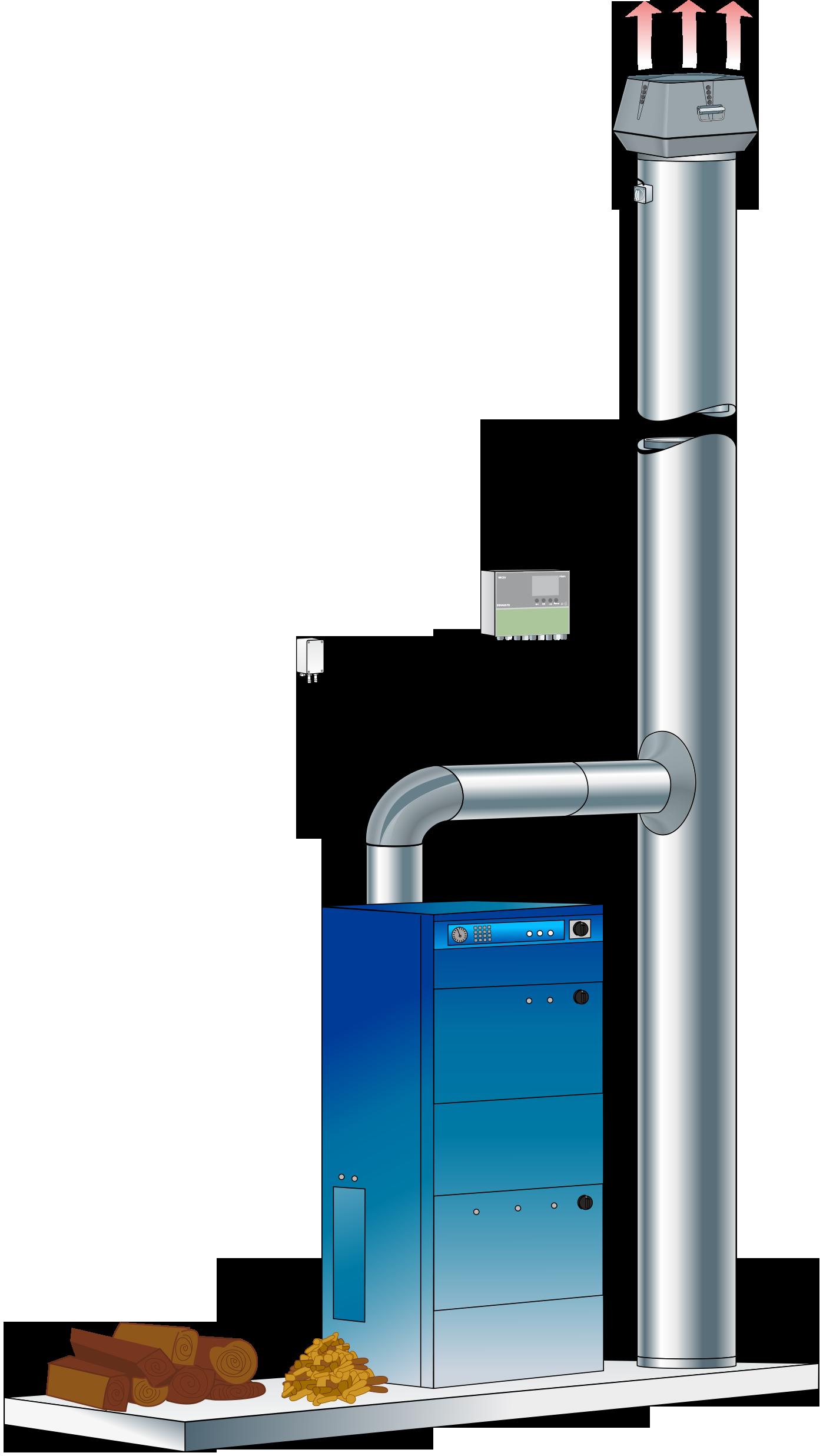 røgsugersystem til biobrændselsfyr