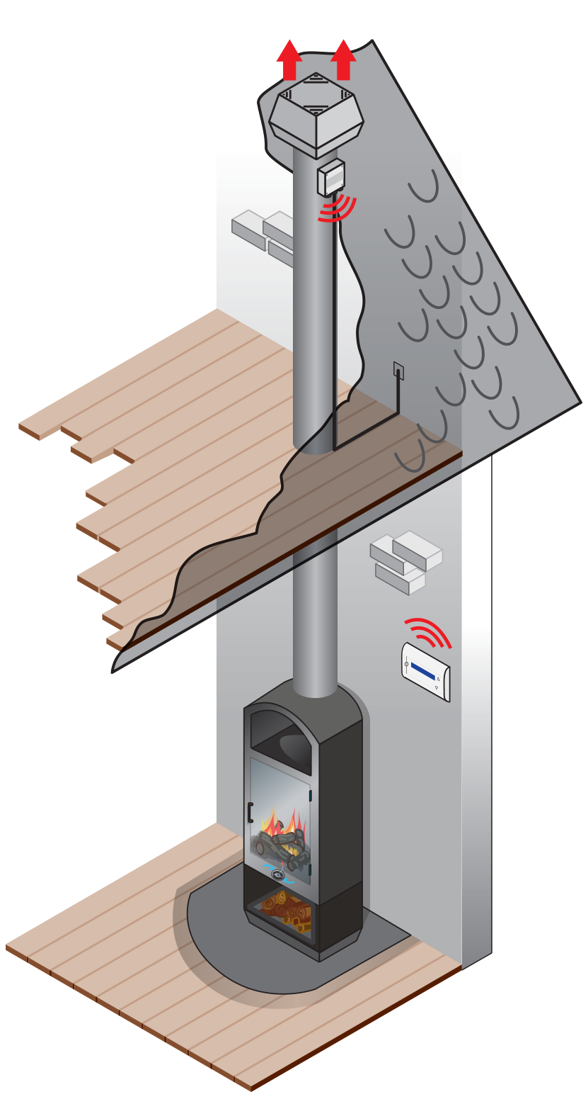 Solid fuel illustration
