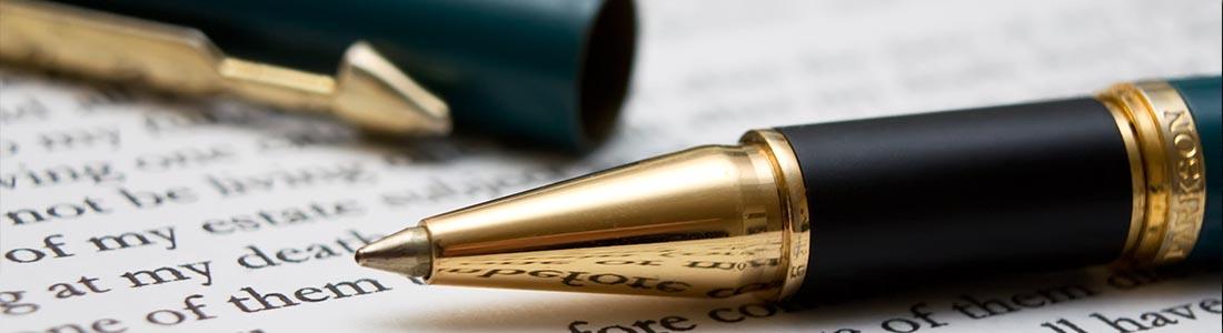kuglepen på papir